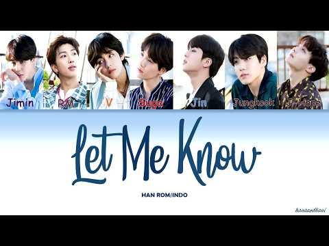 [INDO SUB] BTS (방탄소년단) - Let Me Know (Color Coded Lyrics)