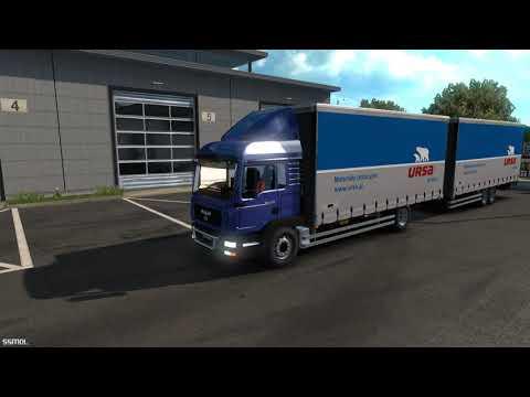 Euro Truck Simulator 2 trash mods Man TGL Tandem |