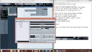 CUBASE TUTORIAL English step by step 17 exporting a track to mp3