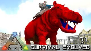 ark survival evolved hippo taming baby breeding e31 modded ark pugnacia dinos gameplay