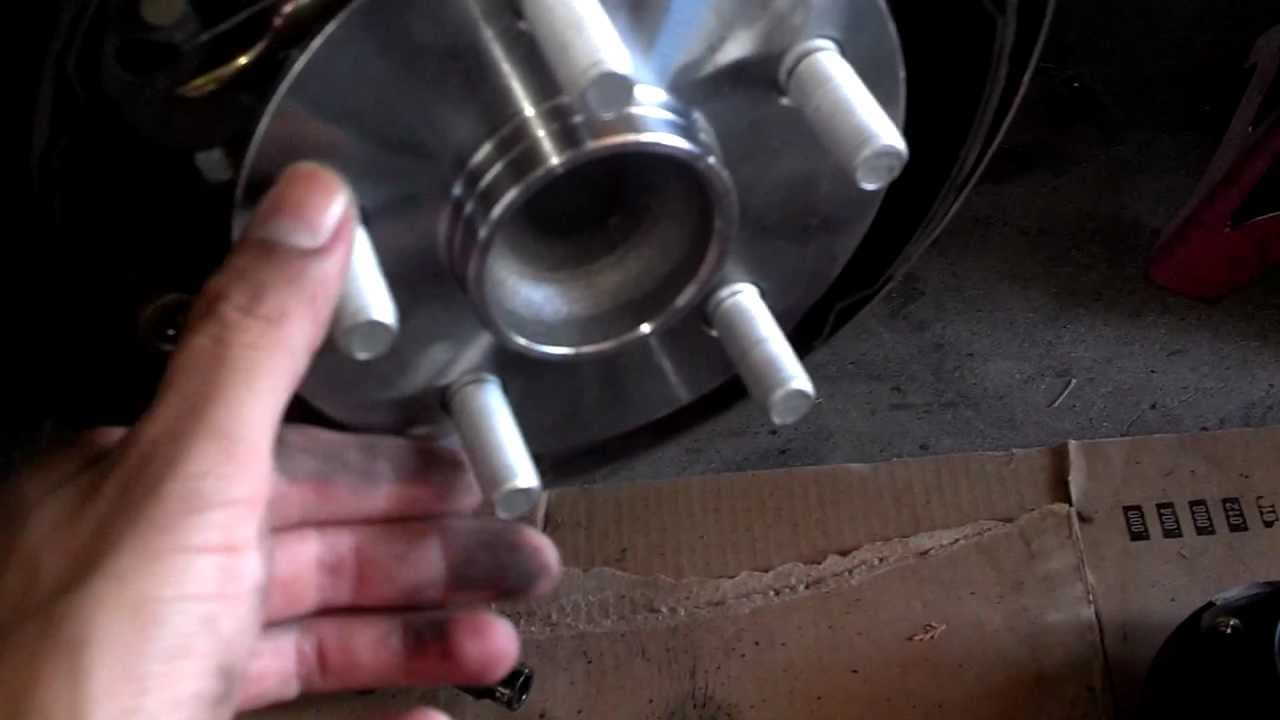 how to change front bearing mazda cx9