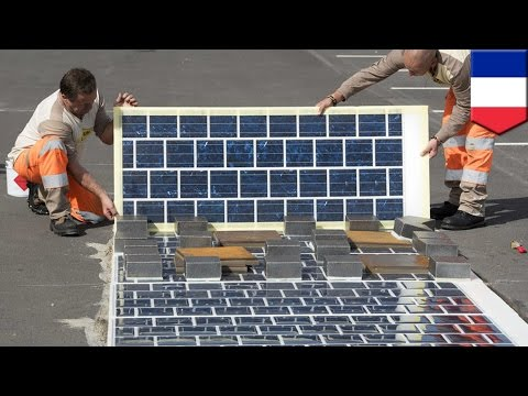 Solar roads: France to lay 600 miles of electricity-producing road - TomoNews