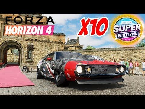 FORZA HORIZON 4 J'OUVRE 10 SUPER WHEELSPINS EN ACHETANT LE CHATEAU ! +VOITURES DE MALADES !! thumbnail