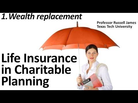 Life Insurance in Charitable Planning 1: Wealth Replacement