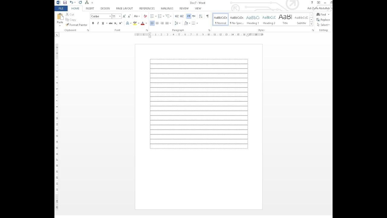Cara Menghilangkan Garis pada lembar Kerja Office Word ...