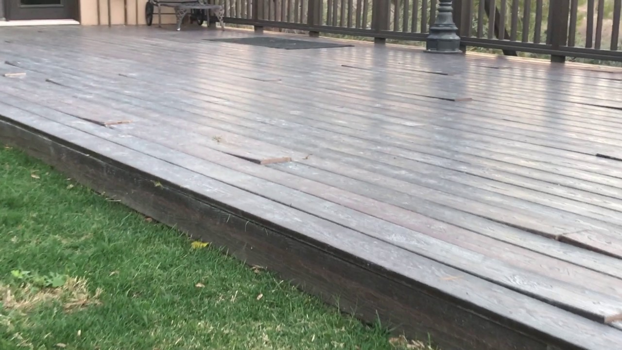 My 15 000 defective evergrain composite decking youtube for Envision decking