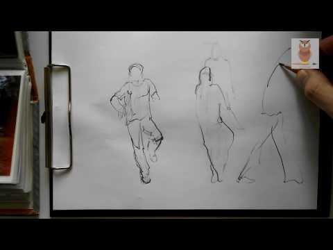 Как нарисовать фигуру человека в движении