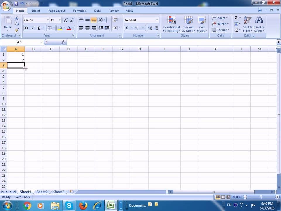 how to make sequential numbering in excel 2010