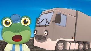 Çocuklar için Çocuklar İçin kamyonlar - Larry Kamyon | Geko Garaj | İnşaat Kamyon | Öğrenme