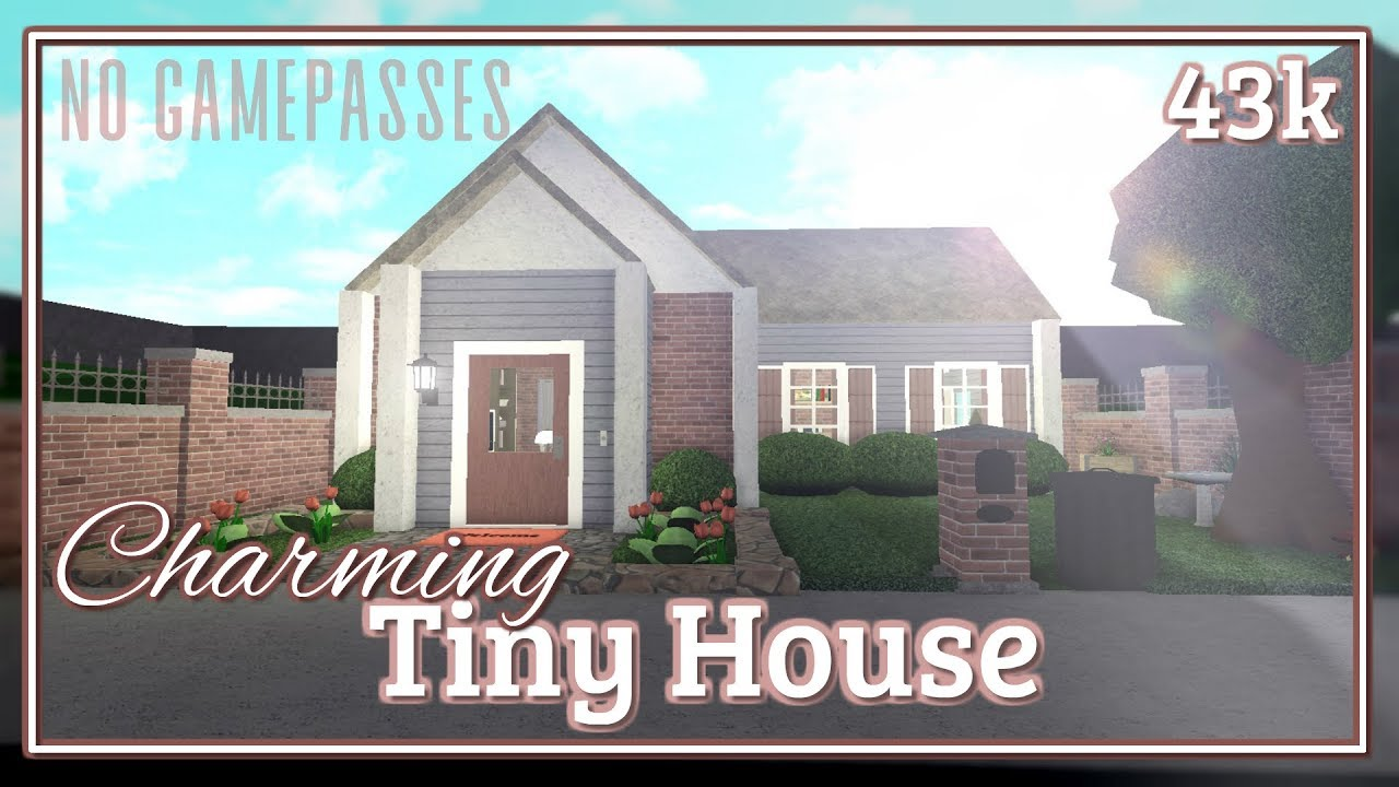 Bloxburg Charming Tiny House Speed Build No Gamepasses