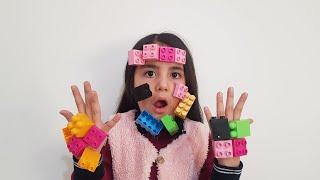 Legolar Yüzüme Yapıştı ليغو تعلق في وجه Наз и папа играют с лего