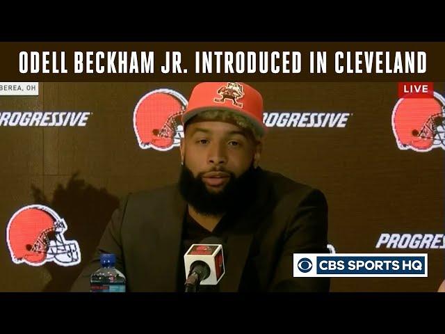 Browns Introduce Odell Beckham Jr. | Breaking News | CBS Sports HQ