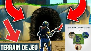 "OMG THE ""SECRETS TUNNELS"" of 'LOOT LAKE' - THE MODE TERRAIN OF THE GOOD DISPONIBLE ON FORTNITE"