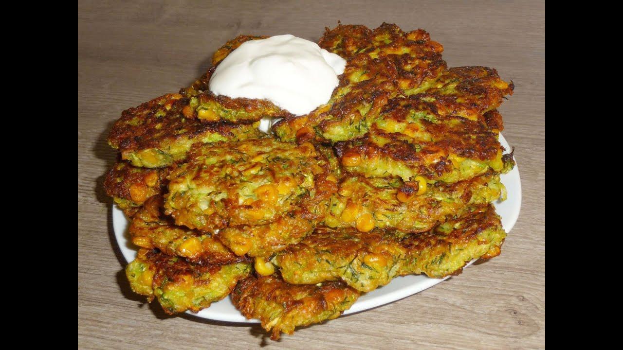 Рецепт блинов из кабачков с геркулесом