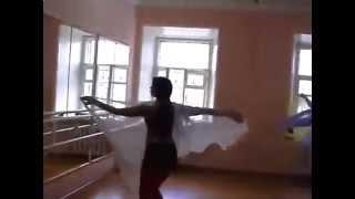 Обучение восточным танцам. Видео с платком