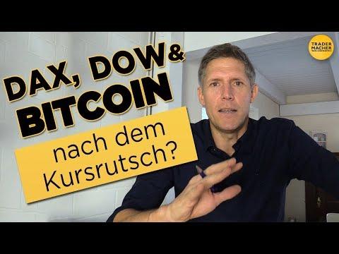 DAX, DOW & BITCOIN nach dem Kursrutsch?