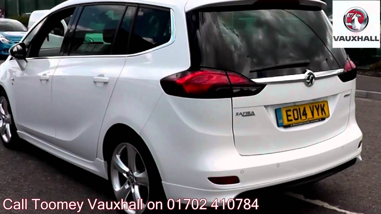2014 vauxhall zafira tourer elite white eo14vyk for sale at toomey vauxhall southend youtube. Black Bedroom Furniture Sets. Home Design Ideas