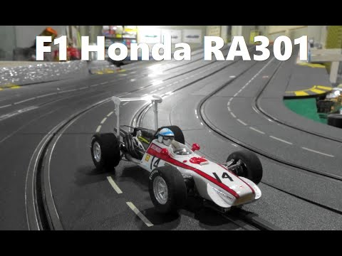 Slot Car  Honda F1 RA301 No14  1968 in Carrera Slot Car Race Track  (1/24Scale)  スロットカー  ホンダF1 RA301
