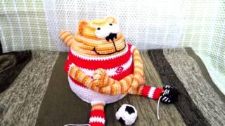 Амигуруми: схема Кот - Футболист. Игрушки вязаные крючком! Free crochet patterns.