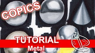 Tutorial: How to Draw Metal (Copic Markers)