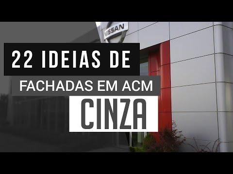 Fachadas ACM Cinza - Revestimento em ACM | Fachada Comercial e Comerciais