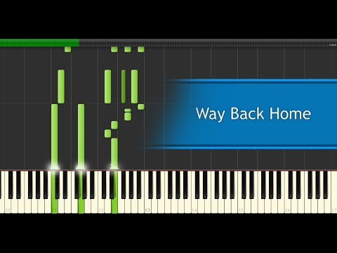 Krys Talk & Cole Sipe - Way Back Home [Piano Tutorial]