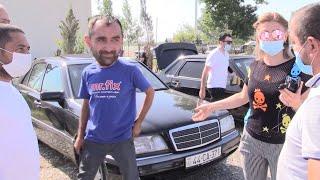 """Canlı Satış - Qara """"Çeşka"""" 500 AZN-ə görə Söhbət - Göyçay Bazarı"""
