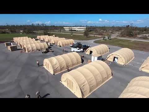 Air Force builds temp housing at damaged Fla. base