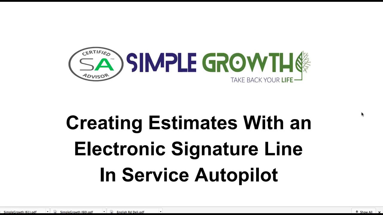 Creating Estimates With an Electronic Signature Line In