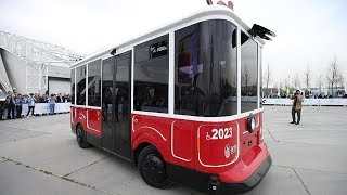 Nostaljik tramvay; sürücüsüz, akıllı elektrikli minibüs oldu thumbnail