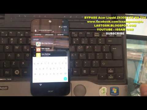 Acer Liquid Z630S LTE NA T04 BYPASS GOOGLE ACCOUNT REMOVE FRP 2016