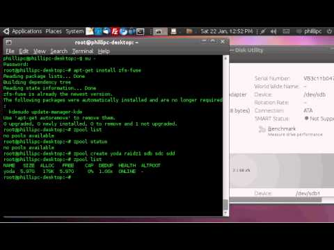 How to create a ZFS file system on ubuntu with 3 drives raid 5 equiv