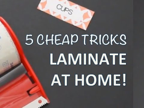 DIY LAMINATOR TIPS | How to laminate at home