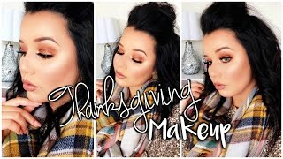 Thanksgiving Makeup Look |  Warm Copper Smokey Eyes