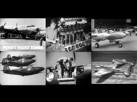 Army Air Force Newsreels 1941 - The U.S. gears up for World War 2 (Restored)