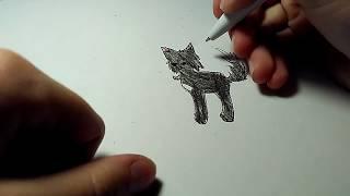 #3 Рисуем Горелого Коты-Воители