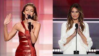 Gigi Hadid APOLOGIZES for Melania Trump Impression at 2016 AMAs