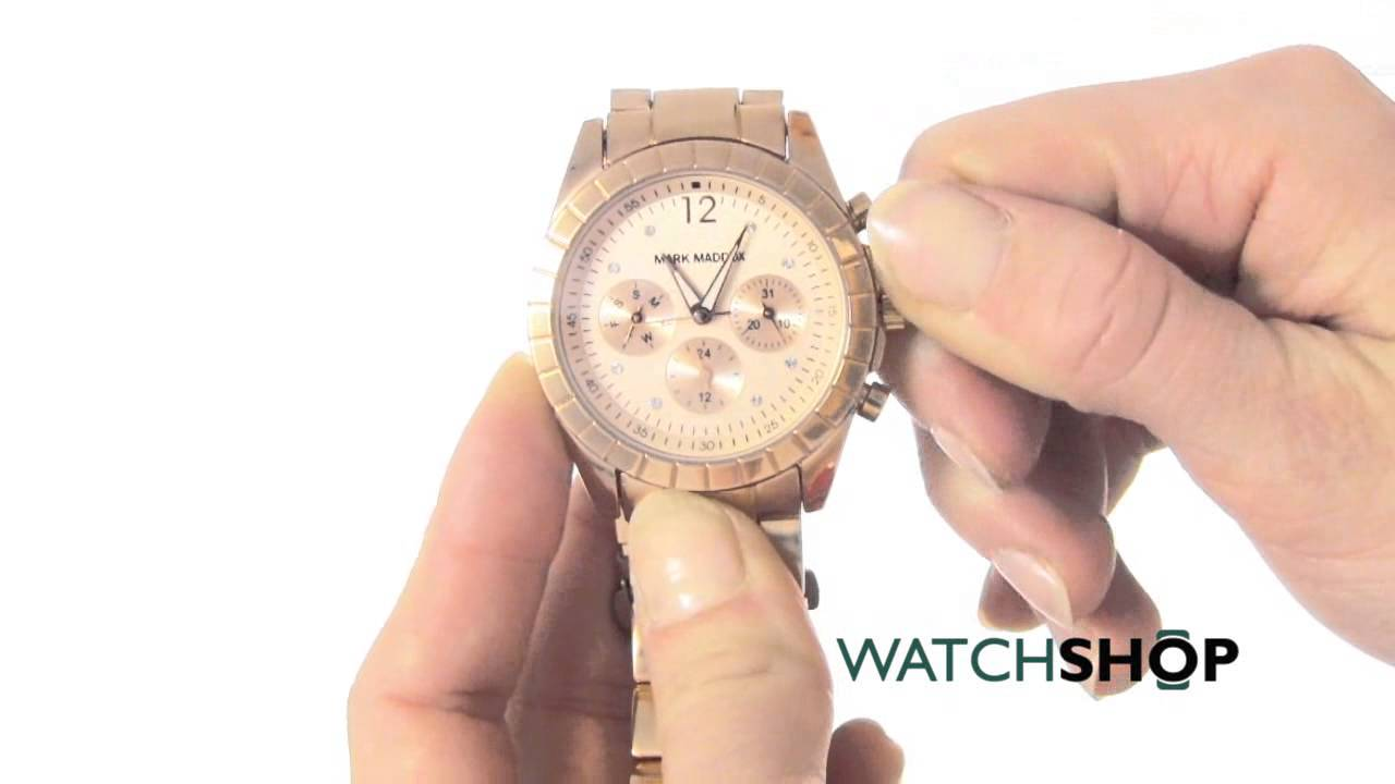 3e544c3025 Mark Maddox Ladies' Pink Gold Watch (MM3010-95) - YouTube