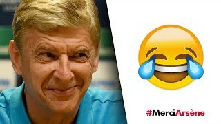 This is hilarious! The best of Wenger's funny moments | #MerciArsene