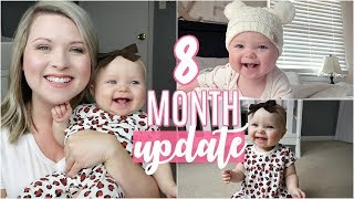 8 MONTH UPDATE | BREASTFEEDING, BABY LED WEANING, REACHING MILESTONES