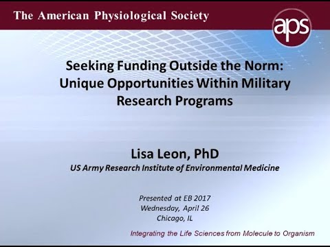 Unique Opportunities within Military Research – 2017 Trainee Symp Pt 1