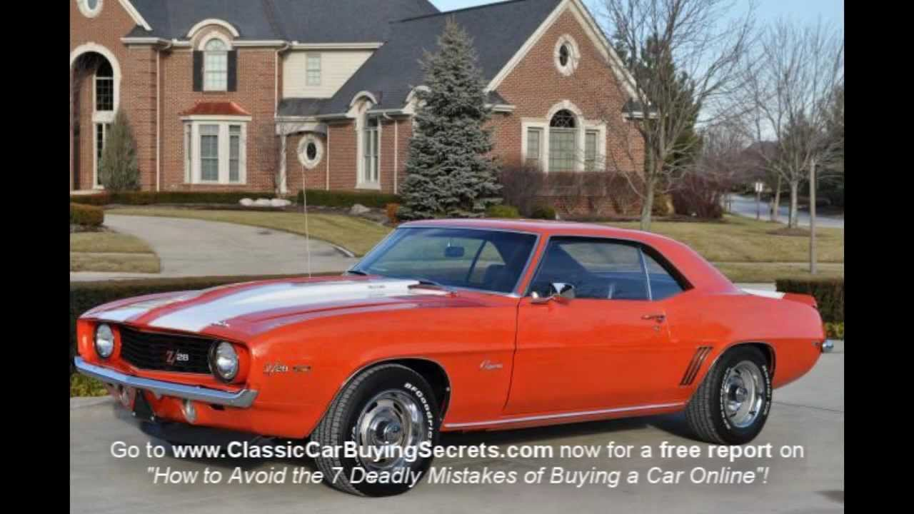 1969 Chevy Camaro Classic Muscle Car for Sale in MI Vanguard Motor ...