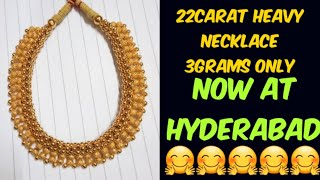 #22carat gold  jewellery collection#light weight jewellery collection now at hyderabad👍👍