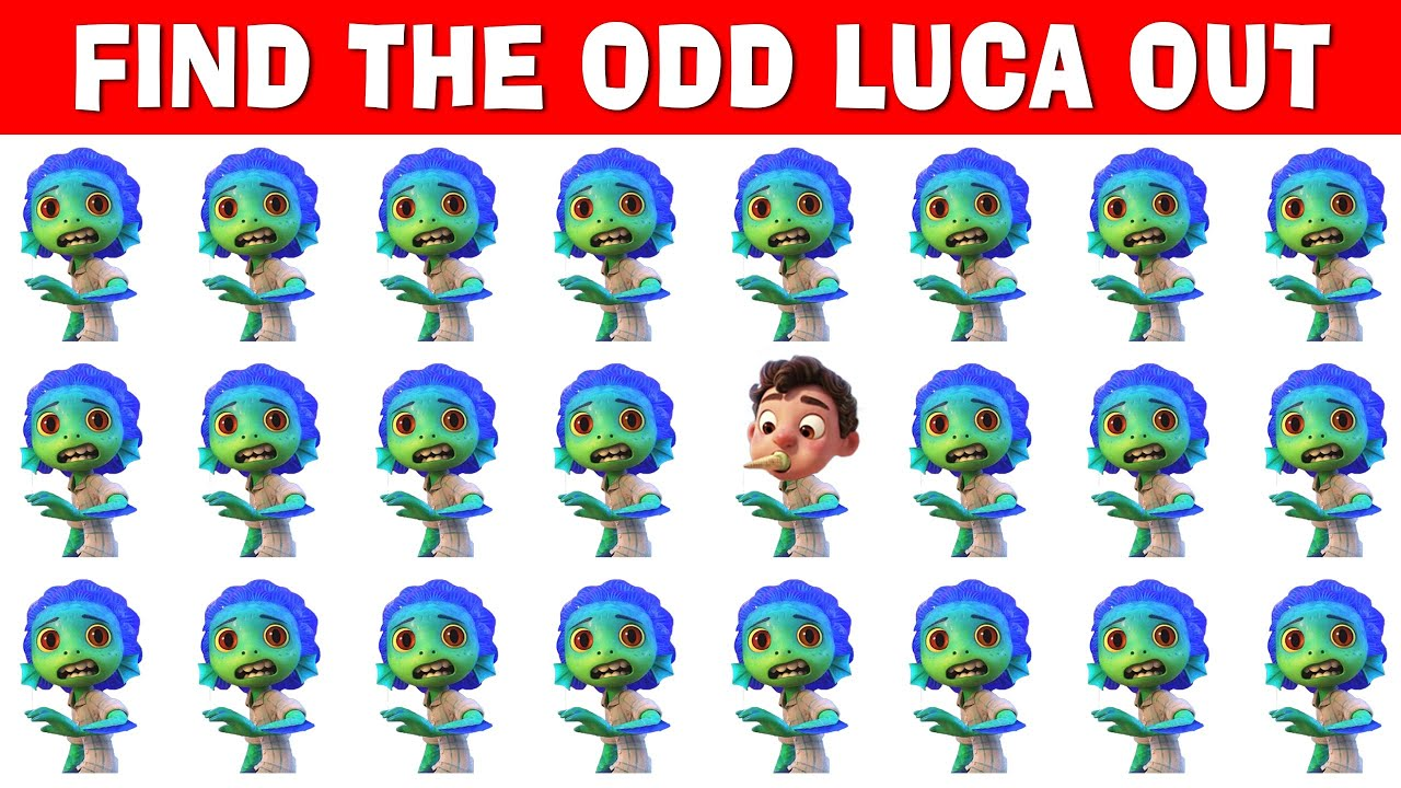 Download Luca - Find The Mistake | Luca 2 Find The Odd One Out | Guess The Mistake Luca Movie - Luca Trailer
