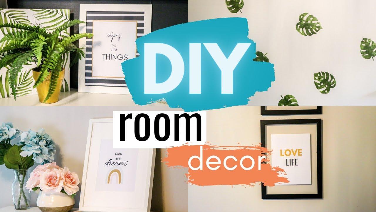 Easy Diy Room Decor Diy Room Decorating Ideas Diy Wall Art Decor Organization Office Update Youtube