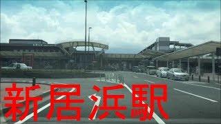 JR新居浜駅に行く道路。(新居浜市坂井町) / Niihama