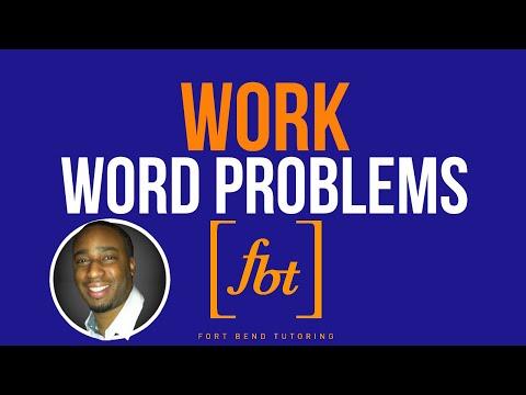 Work Word Problems Part 1: WP10.0 [fbt] (Work Problems)