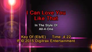 All-4-One - I Can Love You Like That (Backing Track)