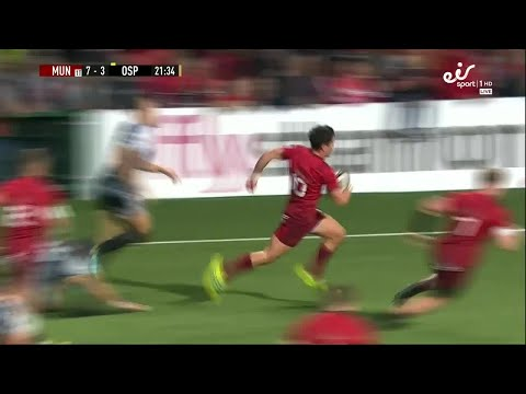 Irish Rugby TV: Joey Carbery Scores His First Try For Munster