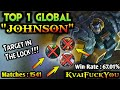 - TOP 1 GLOBAL JOHNSON - By KvaiFuckYou | Mobile Legends